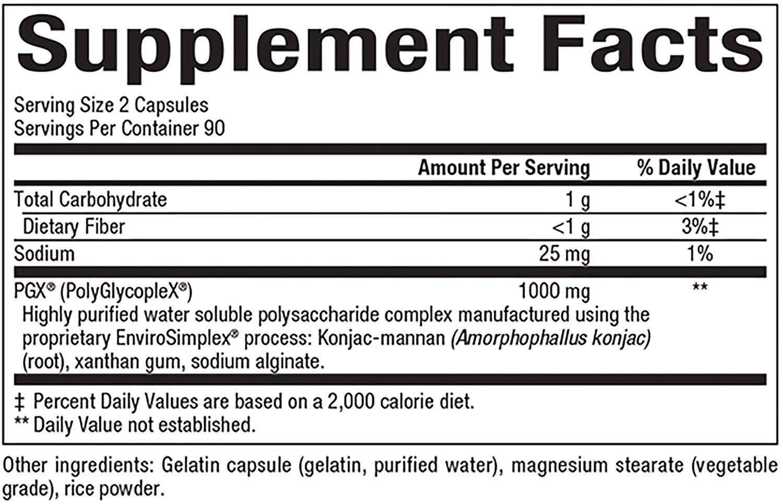 Natural Factors SlimStyles PGX 500 mg 180 Caps